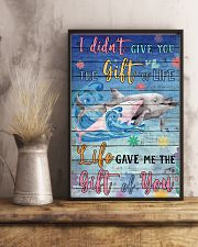 Dolphin - I did not give you 16x24 Poster lifestyle-poster-3