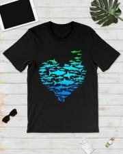 SHARK GADIENT STYLE  Classic T-Shirt lifestyle-mens-crewneck-front-17
