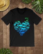 SHARK GADIENT STYLE  Classic T-Shirt lifestyle-mens-crewneck-front-18