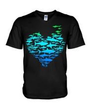 SHARK GADIENT STYLE  V-Neck T-Shirt thumbnail
