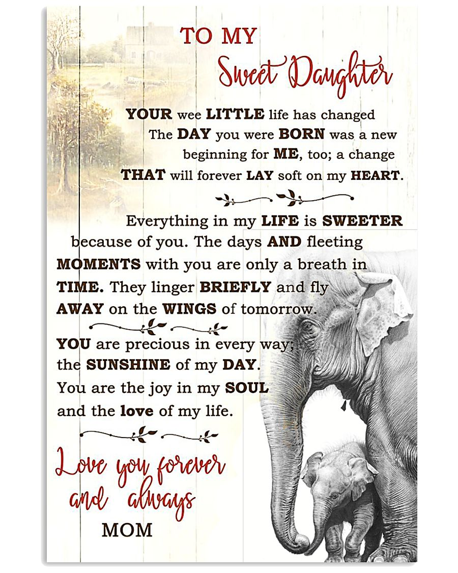 TO MY DAUGHTER  16x24 Poster