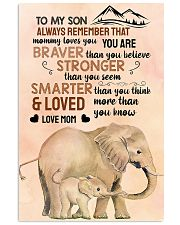 Elephant - to my son alaways remember that 16x24 Poster front