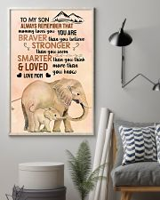 Elephant - to my son alaways remember that 16x24 Poster lifestyle-poster-1