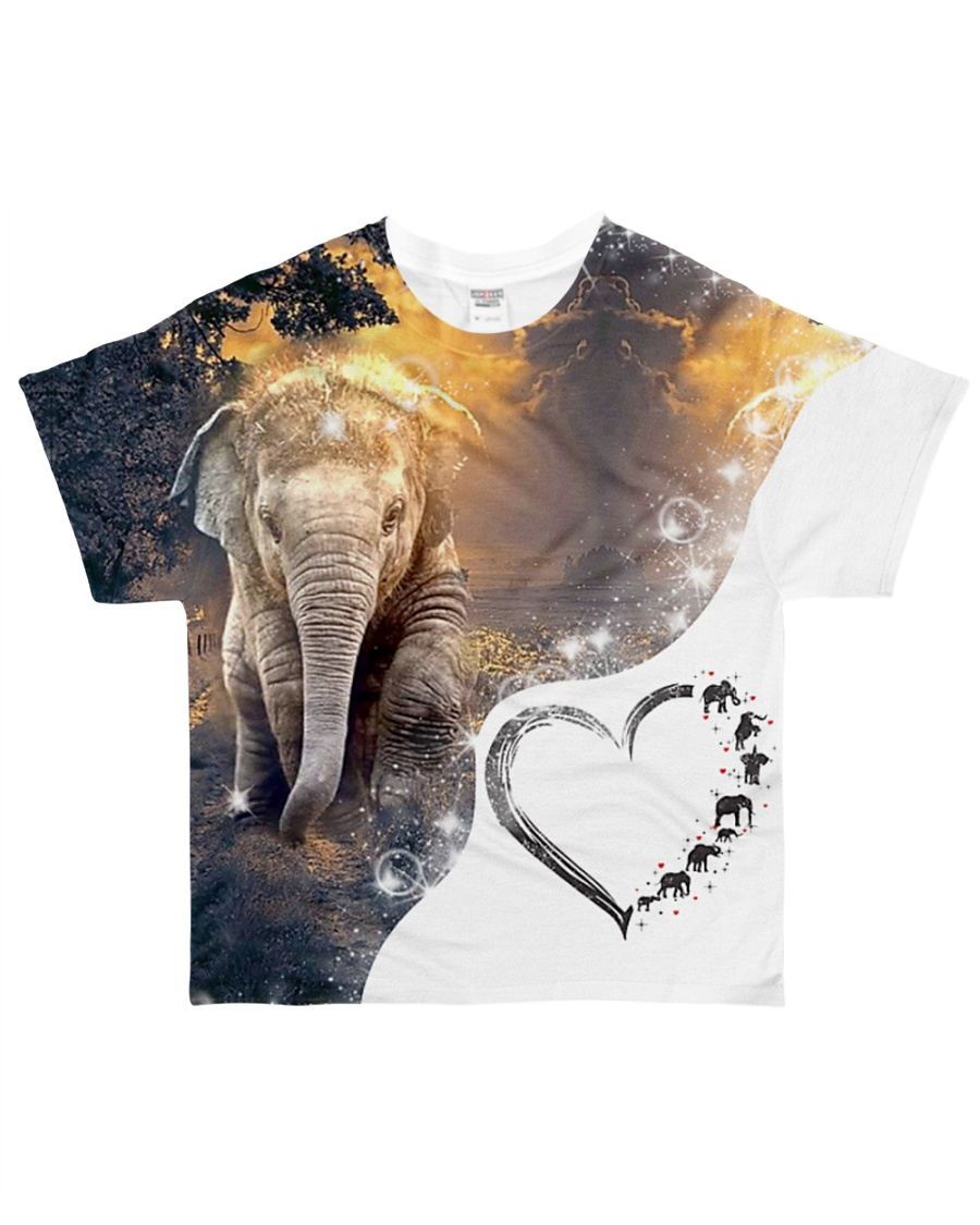 Heart Eleplant  All-over T-Shirt