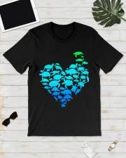 TURTLE GADIENT STYLE TSHIRT Classic T-Shirt lifestyle-mens-crewneck-front-17