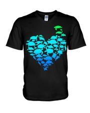 TURTLE GADIENT STYLE TSHIRT V-Neck T-Shirt thumbnail