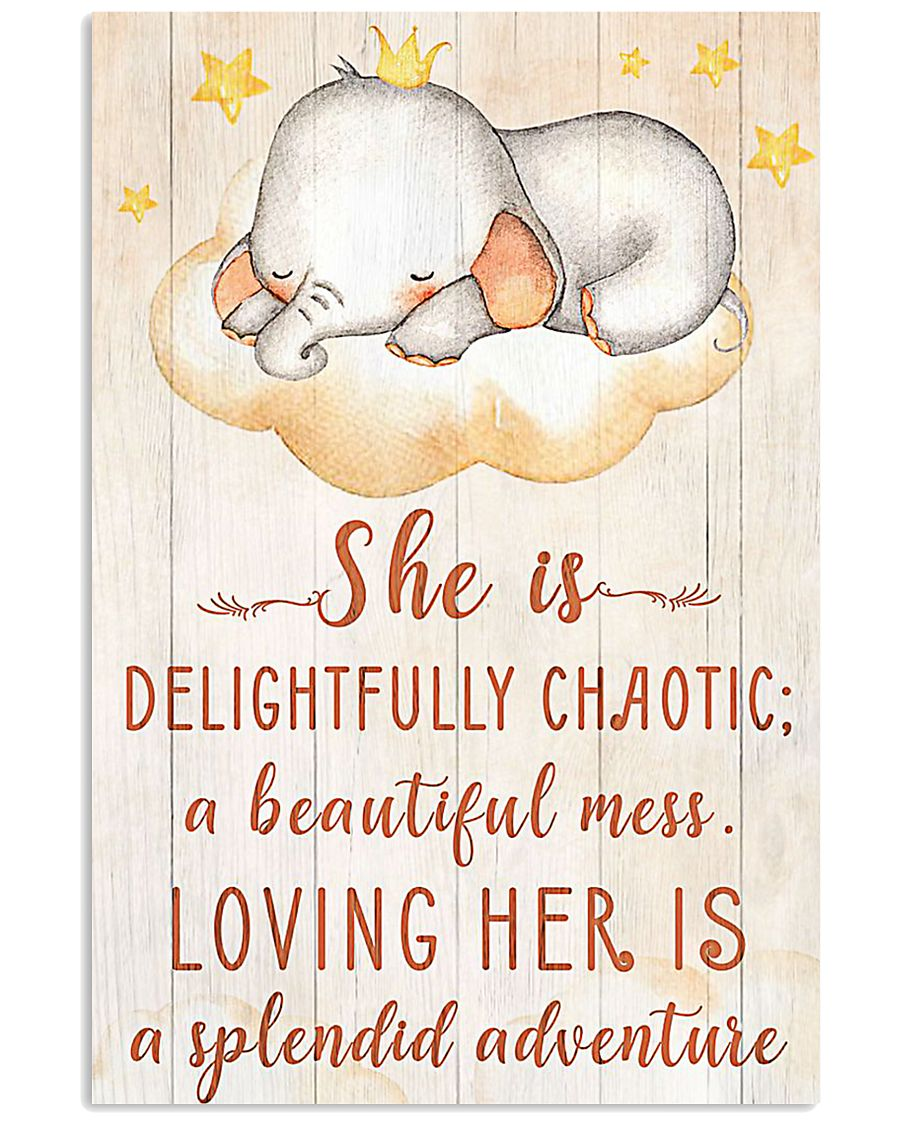 SHE IS DELIGHTFULLY CHAOTIC 16x24 Poster