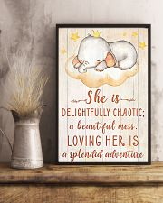 SHE IS DELIGHTFULLY CHAOTIC 16x24 Poster lifestyle-poster-3