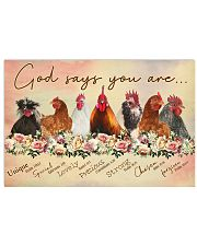 God says you are Chicken 17x11 Poster front