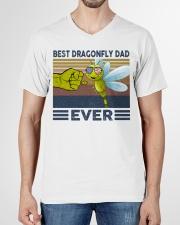 DRAGONFLY VINGATE STYLE TSHIRT V-Neck T-Shirt garment-vneck-tshirt-front-01