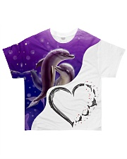 Heart dolphin All-over T-Shirt front