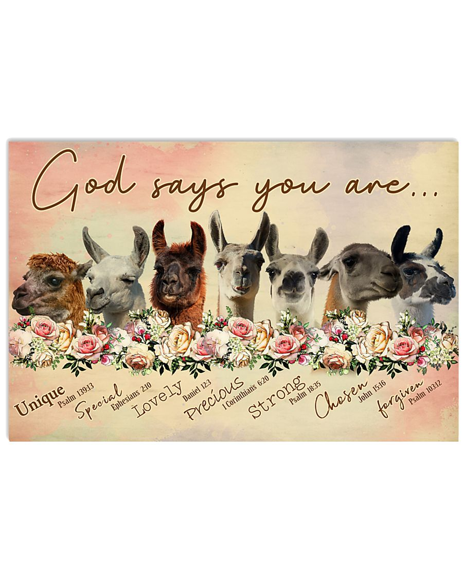 God says you are Llama 17x11 Poster