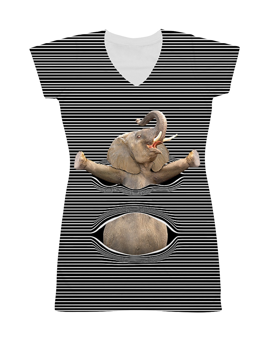 ELEPHANT 3D FULL All-over Dress