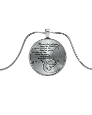 THE SOUND OF MY HEART FROM THE INSIDE  Metallic Circle Necklace front