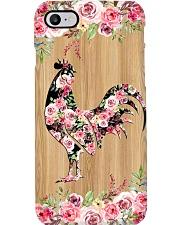chicken flower wood  Phone Case i-phone-8-case