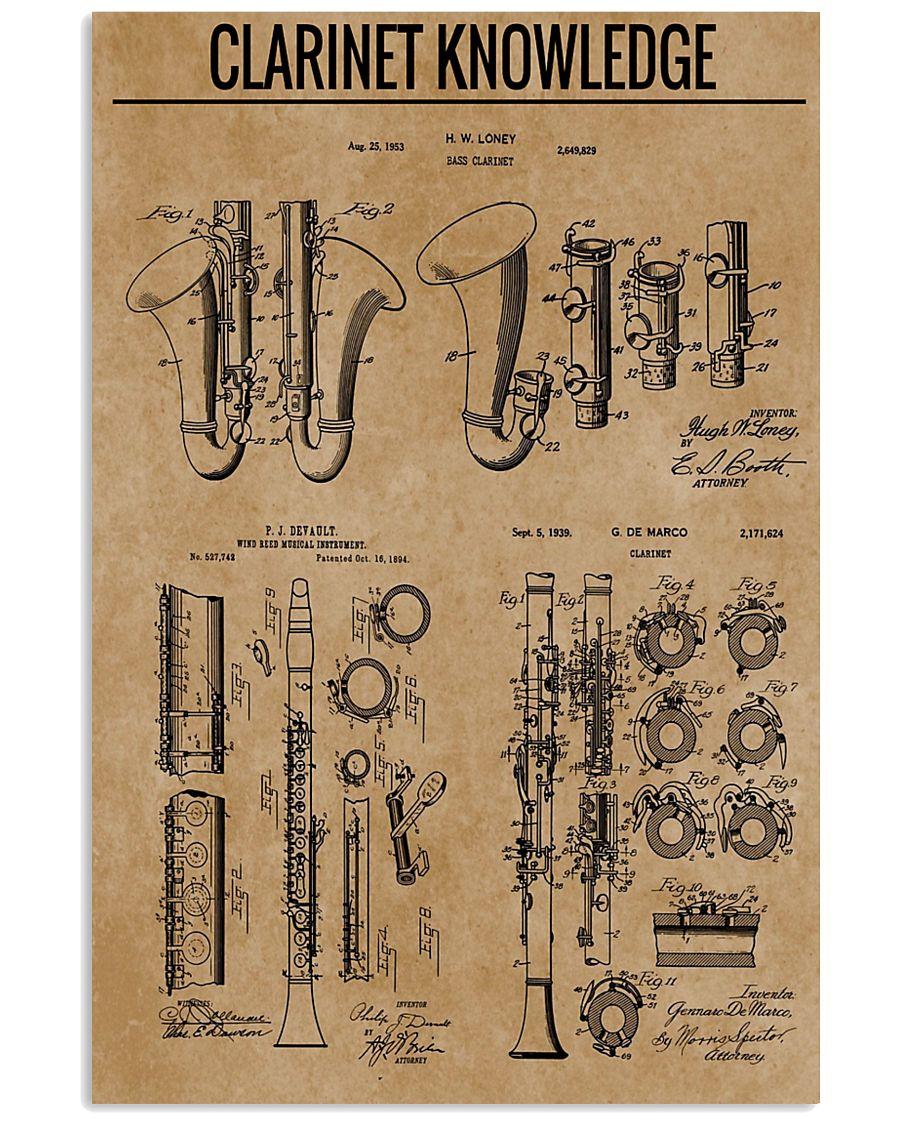 Clarinet 16x24 Poster