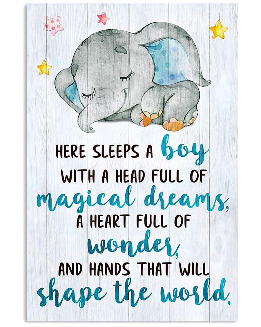 SLEEPS A BOY 16x24 Poster