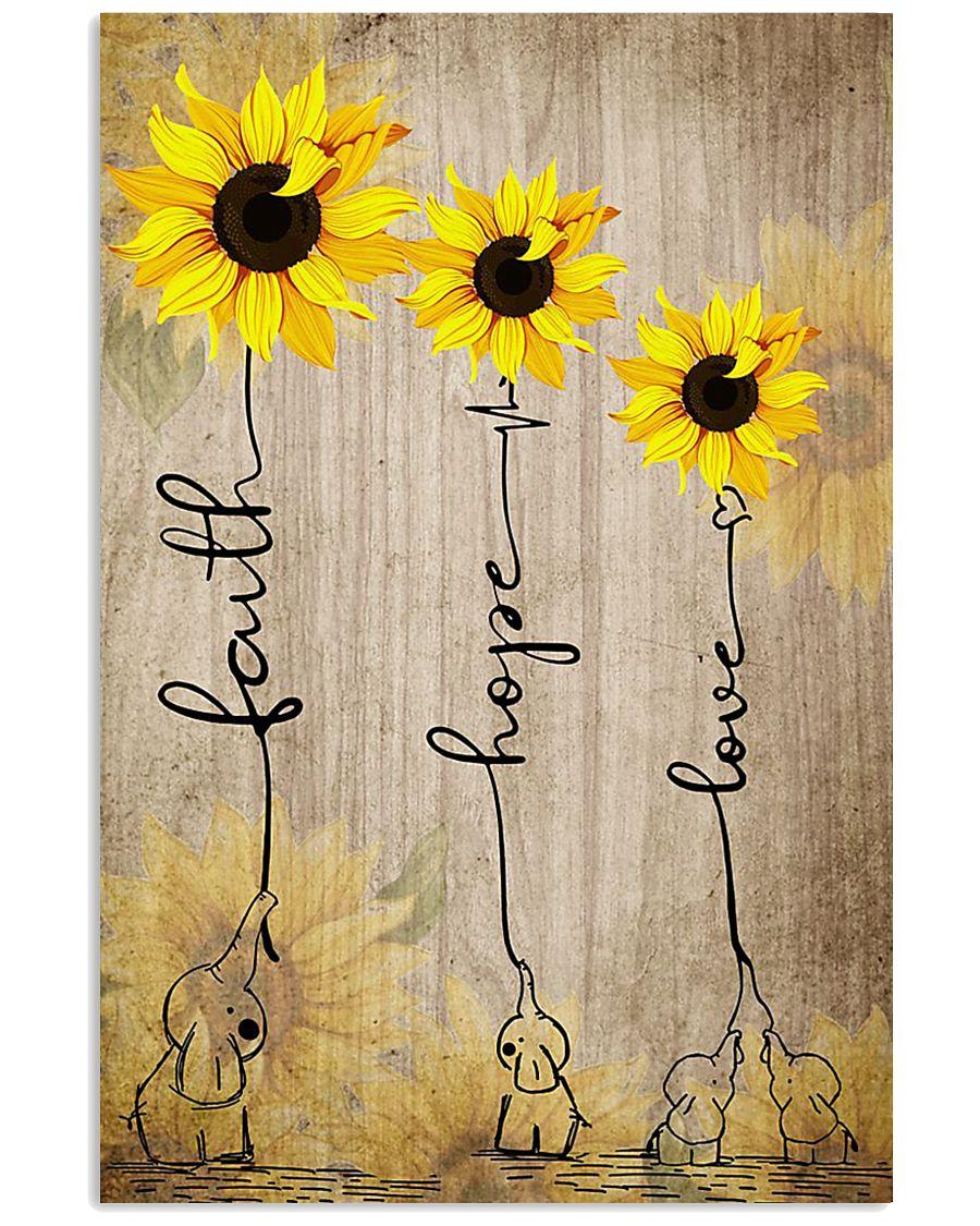 FAITH HOPE LOVE 16x24 Poster
