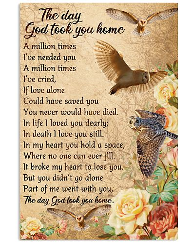 Owl the day God took you home