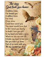 Owl the day God took you home 16x24 Poster front