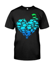 TURTLE GADIENT STYLE TSHIRT Classic T-Shirt front