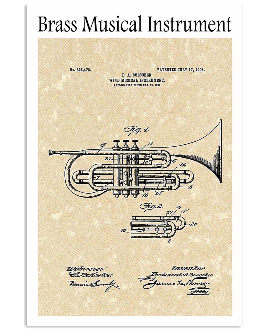 Brass Musical Instrument 1906 16x24 Poster