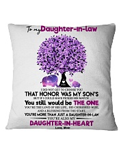 TO MY DAUGHTER-IN-LAW Square Pillowcase thumbnail