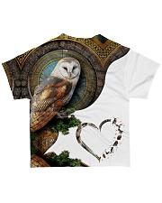 Owl Heart 2 All-over T-Shirt back