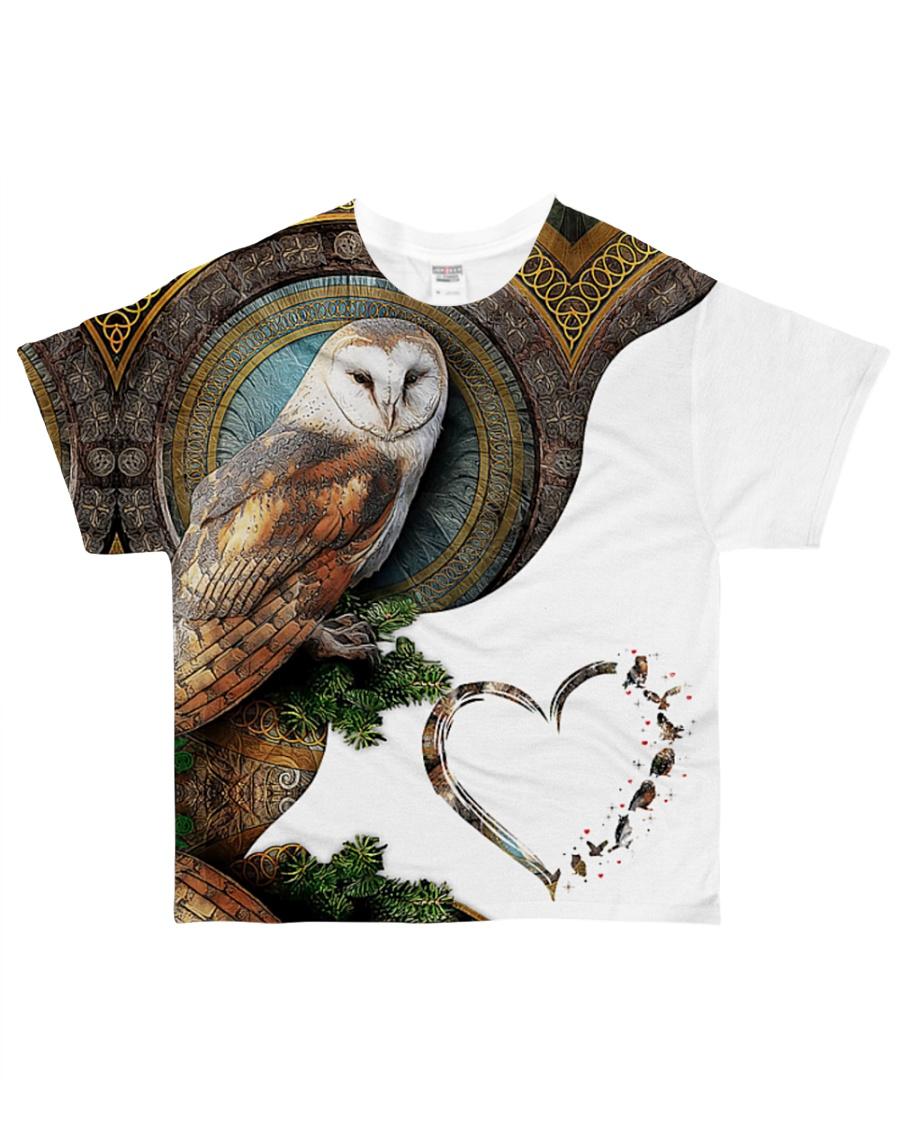 Owl Heart 2 All-over T-Shirt