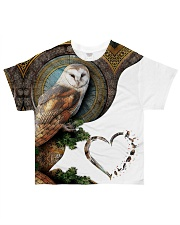 Owl Heart 2 All-over T-Shirt front