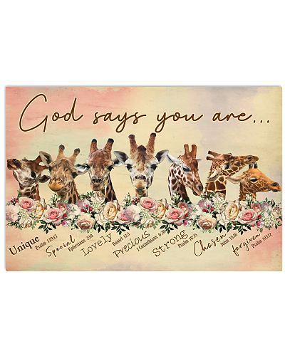 God says you are Giraffe