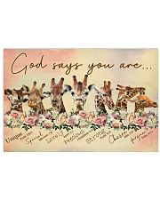 God says you are Giraffe 17x11 Poster front