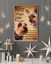 NEVER FORGET WHO YOU ARE - Yorkshire Terrier 24x36 Poster lifestyle-holiday-poster-1