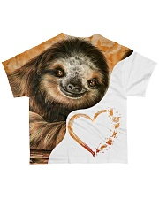 Heart Sloth  All-over T-Shirt back