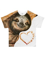 Heart Sloth  All-over T-Shirt front