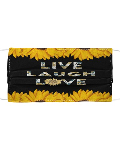 Live laugh love mask