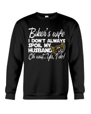 biker wife Crewneck Sweatshirt tile