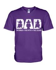 THE BIKER DAD V-Neck T-Shirt thumbnail