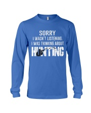 Hunting thinking Long Sleeve Tee tile