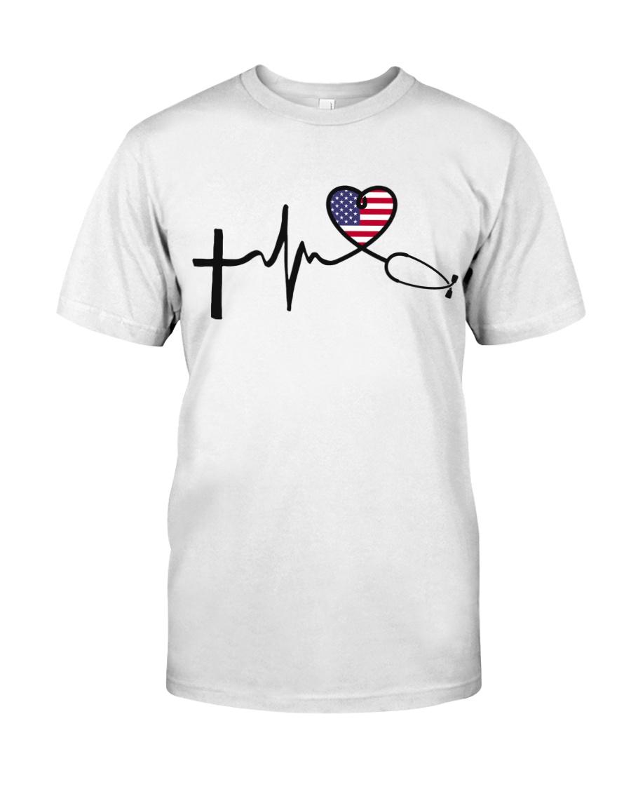 Faith Hope Love Nurse USa Classic T-Shirt