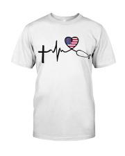 Faith Hope Love Nurse USa Classic T-Shirt front
