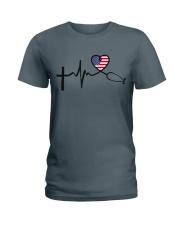 Faith Hope Love Nurse USa Ladies T-Shirt thumbnail