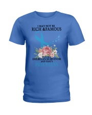 Diabetes RIBBON Ladies T-Shirt thumbnail