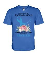 Diabetes RIBBON V-Neck T-Shirt thumbnail