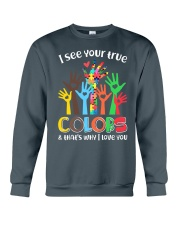 Autism that's why i love you Crewneck Sweatshirt thumbnail
