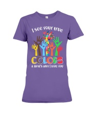 Autism that's why i love you Premium Fit Ladies Tee thumbnail