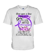 Fibromyalgia Hated V-Neck T-Shirt thumbnail