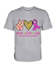 Breast Cancer V-Neck T-Shirt thumbnail