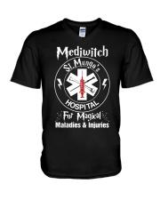 Magical Staff St Mungo's V-Neck T-Shirt thumbnail