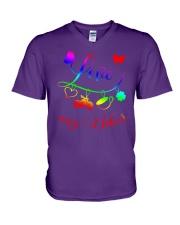 biker Love V-Neck T-Shirt thumbnail